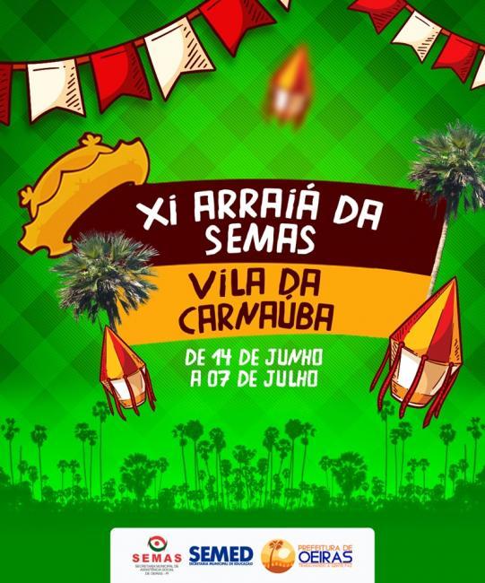 Arraiá da Semas começa nesta sexta-feira em Oeiras