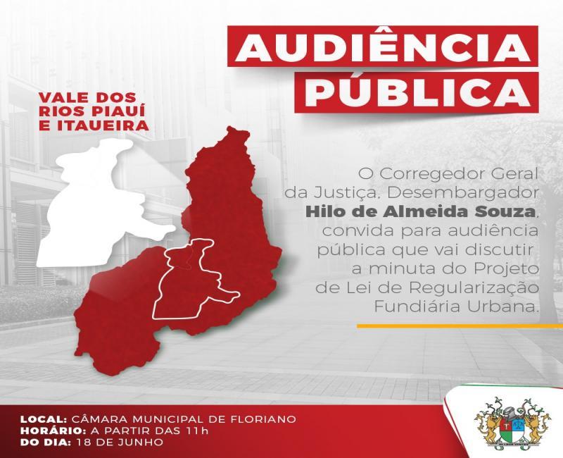 Audiência Pública discutirá Regularização Fundiária em Floriano