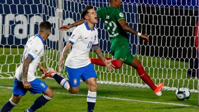 Brasil vence a Bolívia na estreia da Copa América