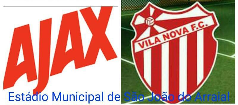 Ajax e Vila Nova de Piripiri realizarão amistoso em São João do Arraial