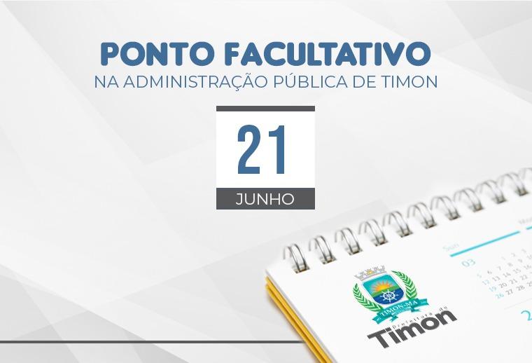 Prefeitura de Timon decreta ponto facultativo nesta sexta (21/06)