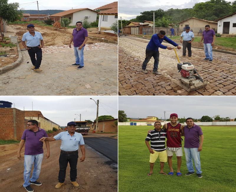 Zé Humberto visita obras e parabeniza equipe da PMU