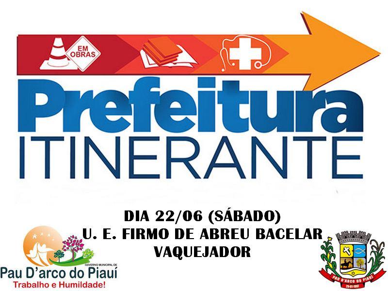 Prefeitura Itinerante leva serviços à zona rural de Pau D'arco do PI