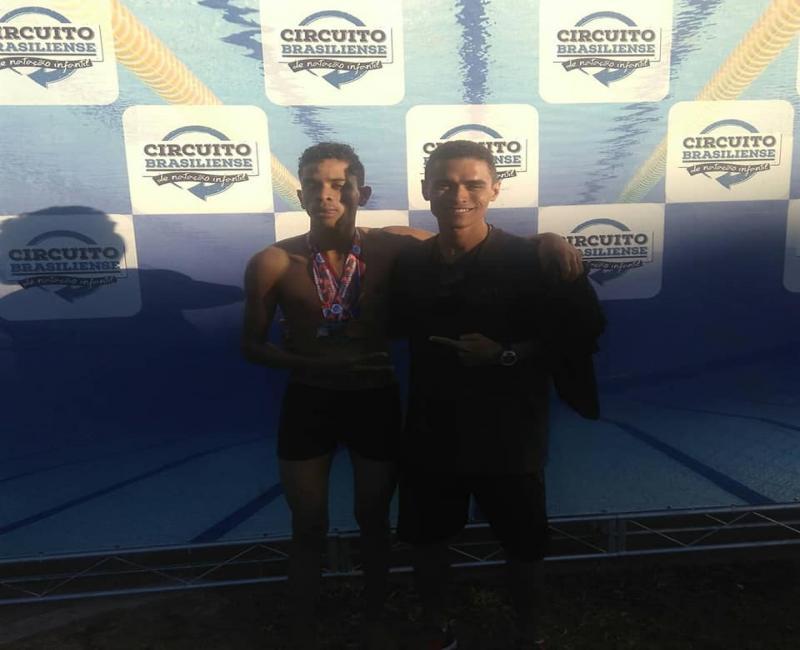 Aluno do CCFV é vice-campeão brasileiro de natação