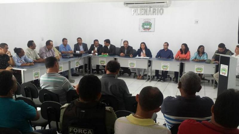 Câmara Municipal de Názaria debate sobre segurança pública na cidade