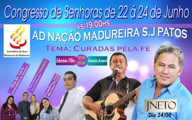 Começa hoje o congresso de senhoras em São João dos Patos-Ma