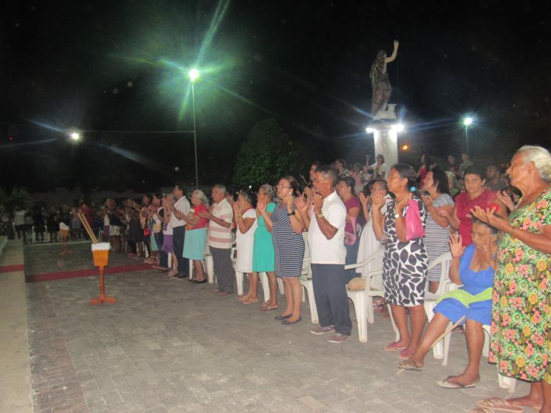 Missa de encerramento dos festejos do Padroeiro São João Batista, em São João do Arraial (Foto: Leônidas Silva)
