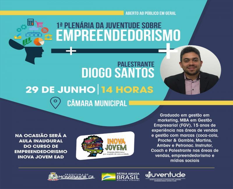 I Plenária de Empreendedorismo acontecerá neste sábado em Monsenhor Gil