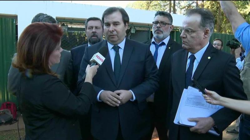 Presidente da Câmara, Rodrigo Maia, comenta a reforma da Previdência