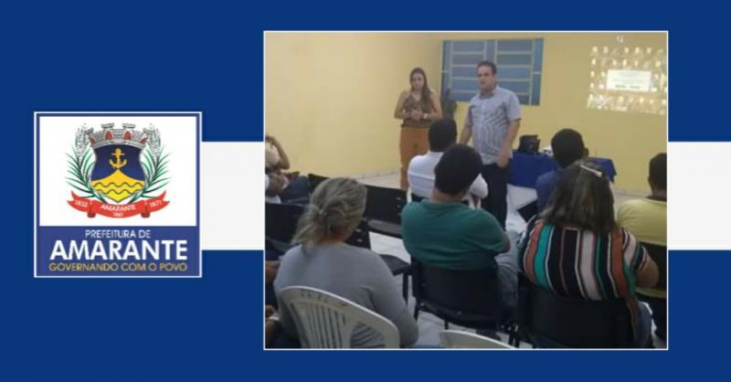 Prefeito Diego Teixeira se reuni com equipe da gestão Municipal de Amarante