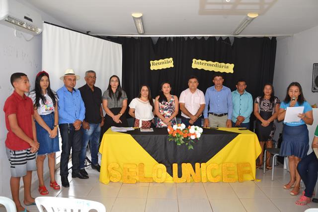 Reunião intermediária do selo UNICEF em Vera Mendes
