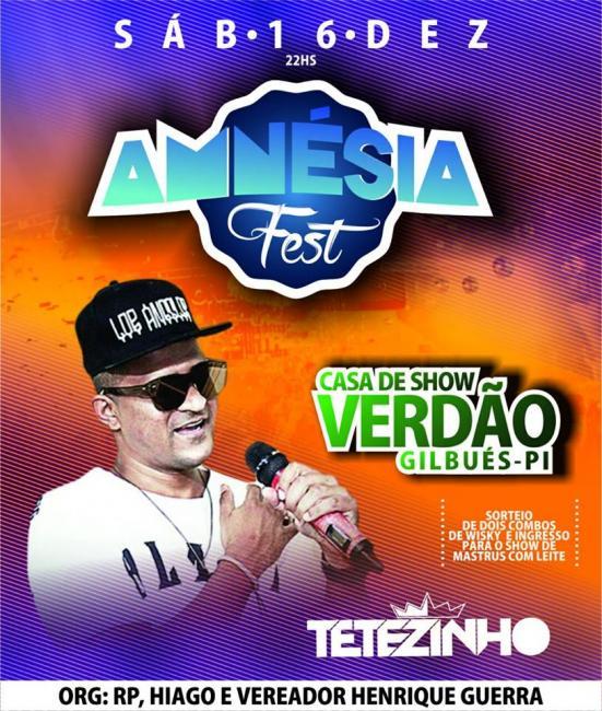 Tetézinho cumpre extensa agenda de shows neste fim de ano
