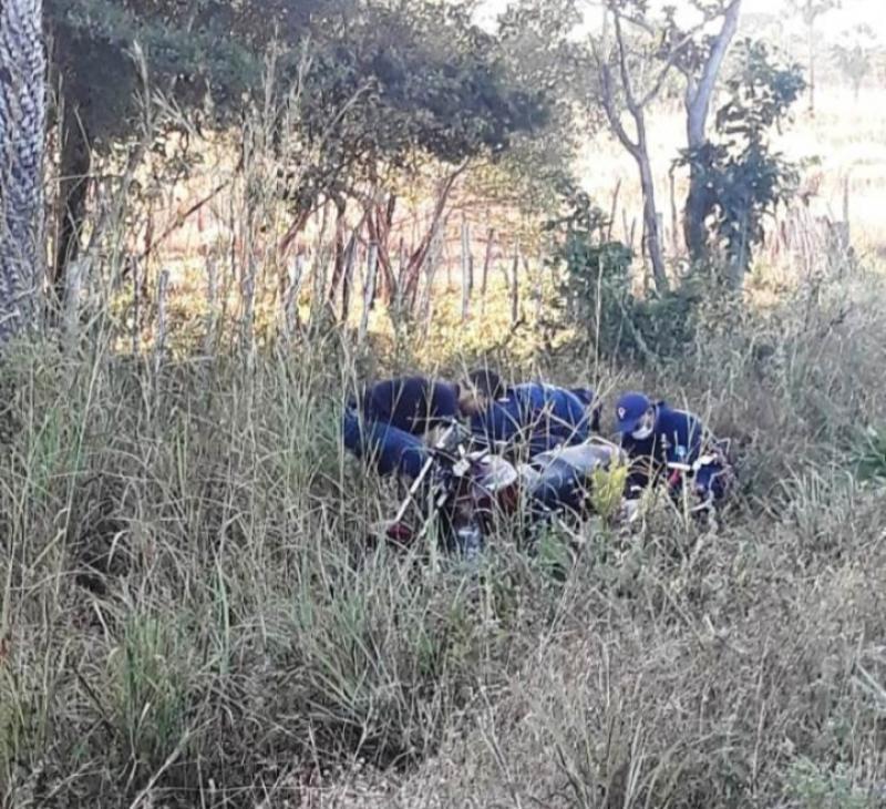 Samu resgata vítima de acidente de moto na BR 222 em Batalha