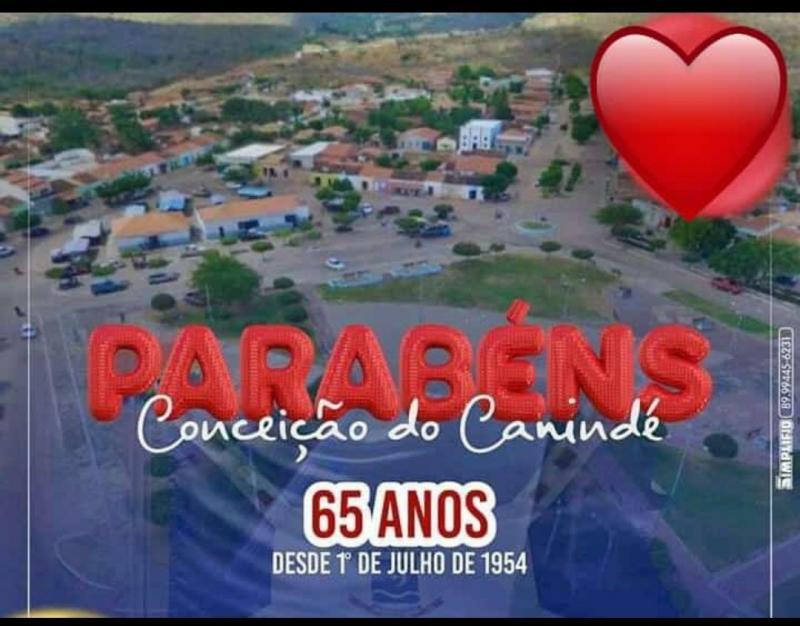 Conceição do Canindé completa 65 anos com uma vasta programação