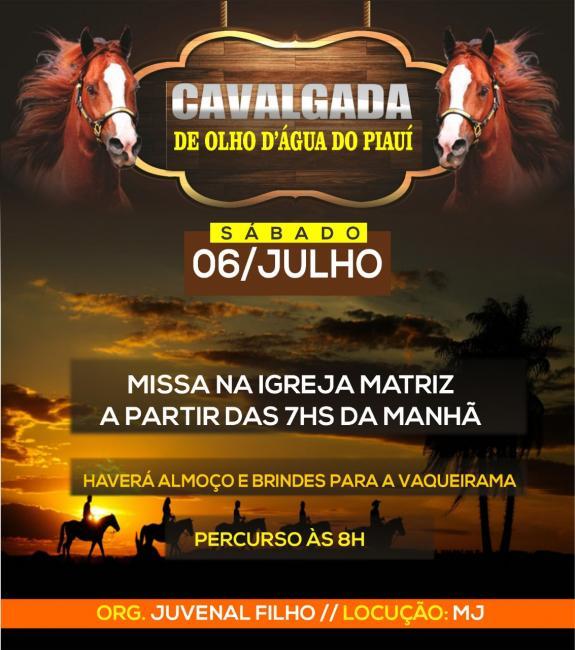 Partícipe da 2° Grande Cavalgada de Olho D'água do Piauí