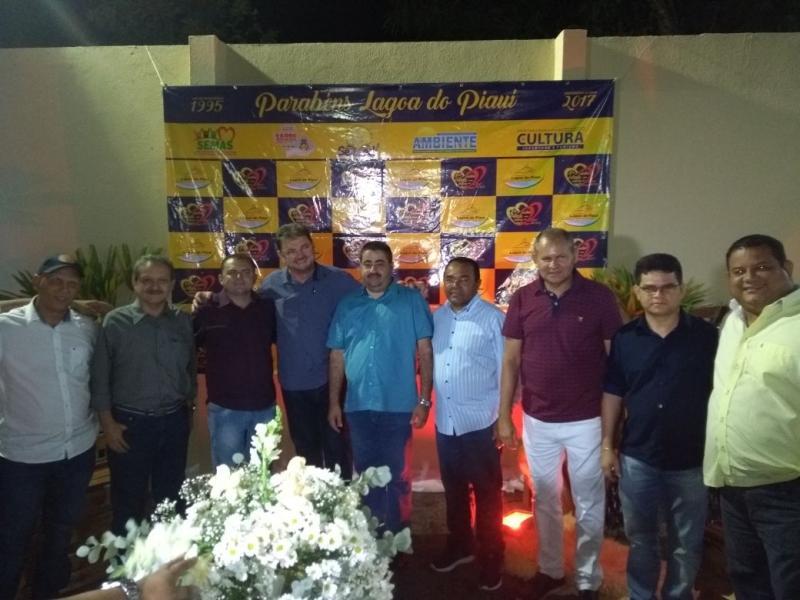 Prefeito de Lagoa do Piauí recebe autoridades em comemoração ao aniversário da cidade