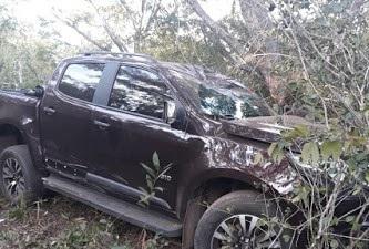 Camionete S10 com placa de Esperantina sofre grave acidente no estado do MA