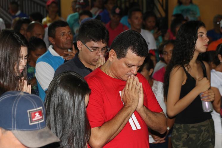 Encerramento dos festejos do padroeiro do bairro Beira Rio em Miguel Alves