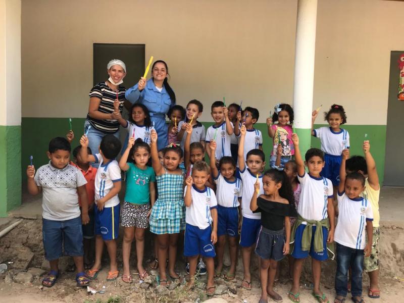 Equipe de Saúde Bucal de Pau D'arco realiza aplicação de flúor nas escolas