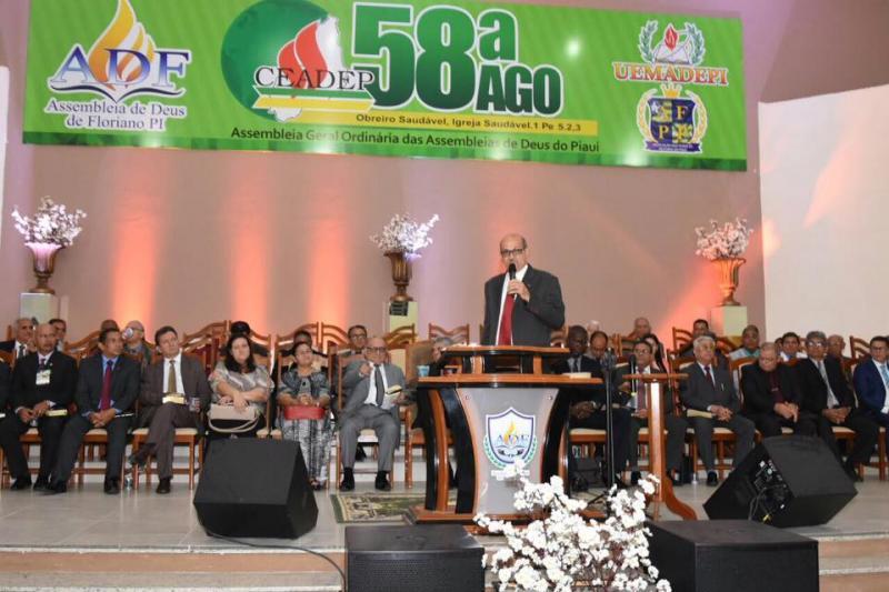 Prefeito Joel participa da abertura da 58ª Assembleia Geral Ordinária das Assembleias de Deus