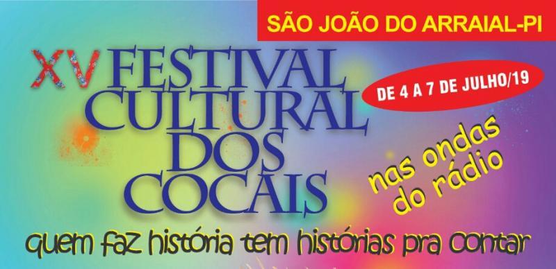 Convite para o XV Festival Cultural dos Cocais