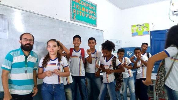 NASF esteve com alunos do Ensino Fundamental em Francisco Ayres