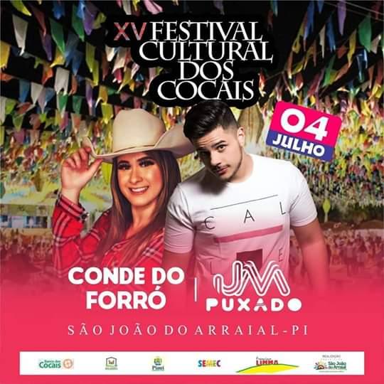 Confira a programação da primeira noite do XV Festival Cultural dos Cocais