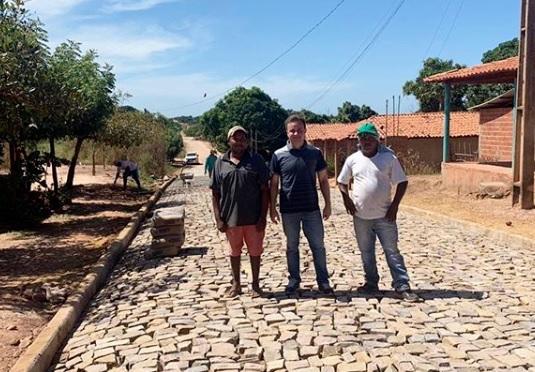 Prefeito de São Pedro visitou obras de conclusão de pavimentação