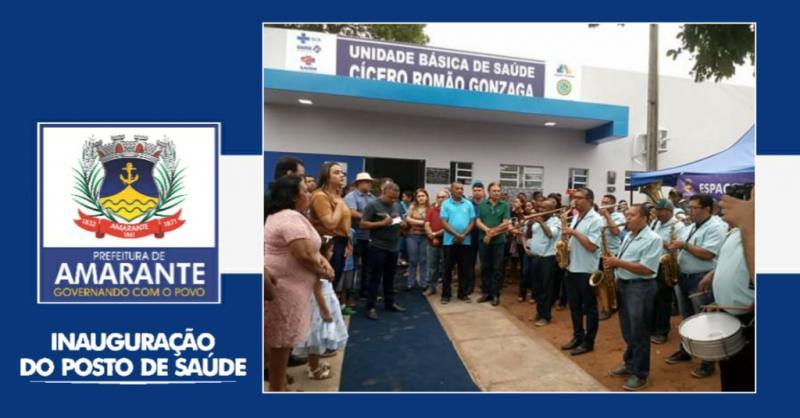 Prefeitura de Amarante Inaugura Unidade de saúde no Saco da Cachoeira