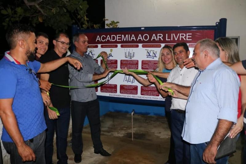 Primeira academia de saúde ao ar livre na zona rural de Sigefredo Pacheco