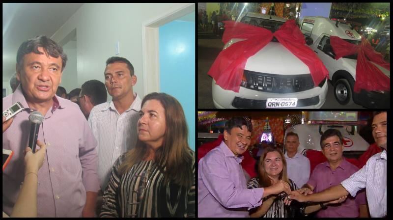 Governador W Dias entrega ambulância e caminhonete em São João do Arraial