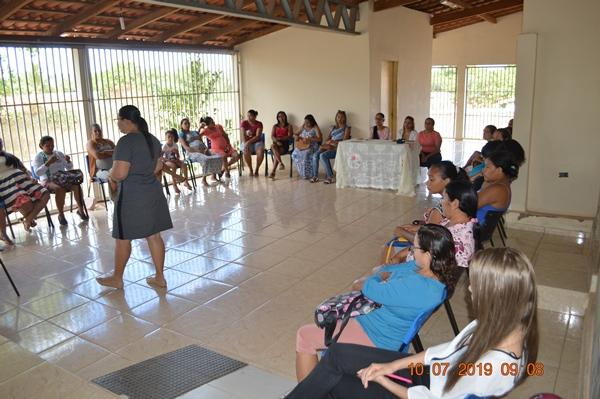 Saúde de Colônia promove educação em saúde com grupo de gestantes
