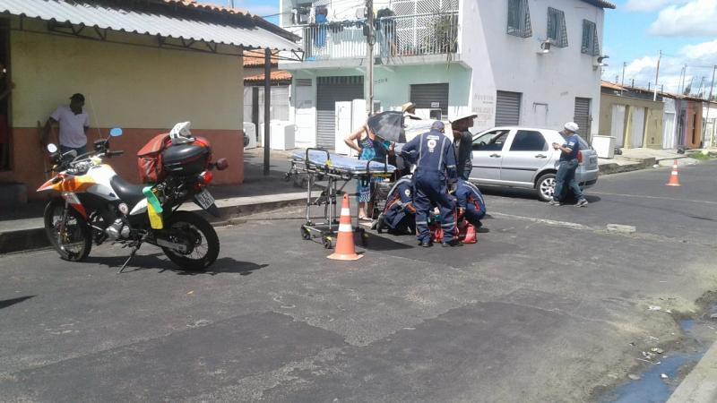 Acidente deixa uma pessoa ferida na zona sul de Teresina