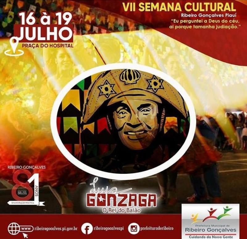VII Semana Cultural será realizada em Ribeiro Gonçalves