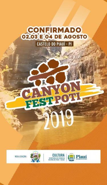 Prefeitura divulga datas do Canyon Fest Poti em Castelo do Piauí