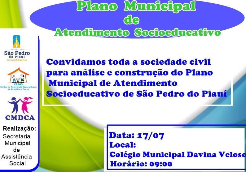 Prefeitura realizará análise do Plano de Atendimento Socioeducativo