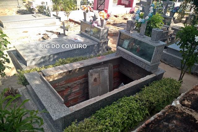 Homem tenta fugir da PM e acaba fraturando o pé ao cair em túmulo