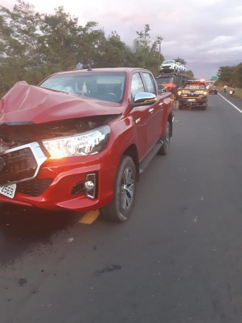 Três carros se envolvem em acidente na BR-316 em Teresina