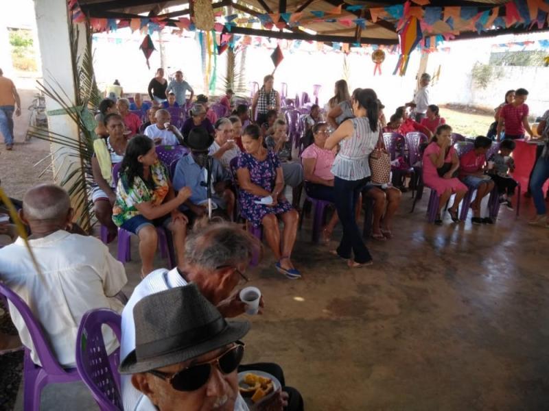 Assistência Social realiza arraiá para terceira idade em Lagoa do Sítio