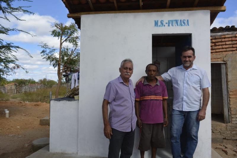 Famílias são contempladas com melhorias sanitárias na zona rural de Oeiras