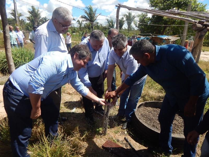 Inauguração de Sistemas de Abastecimento de Água em Miguel Leão