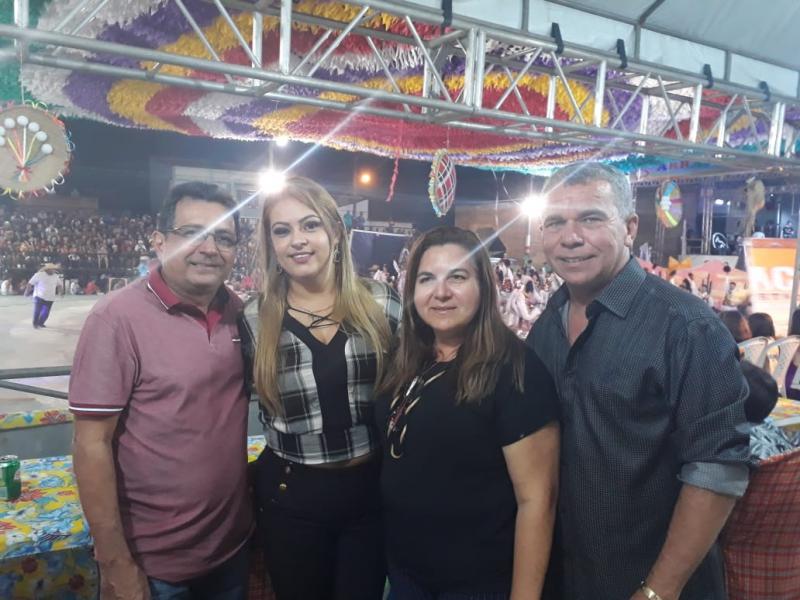 Prefeita Vilma Lima participa de Festival em Magalhães de Almeida
