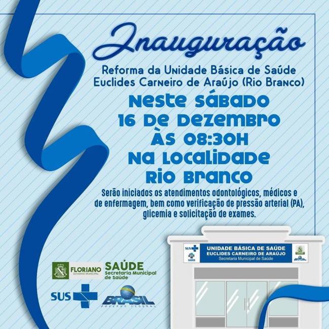 É amanhã, comunidade Rio Branco!