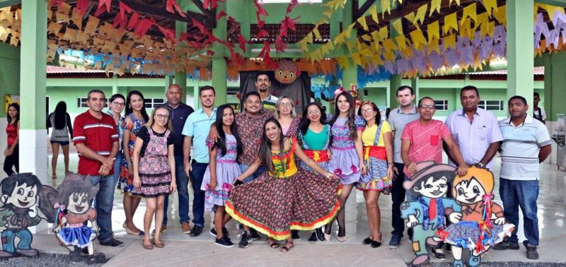Escola do interior realiza São João e valoriza a cultura popular