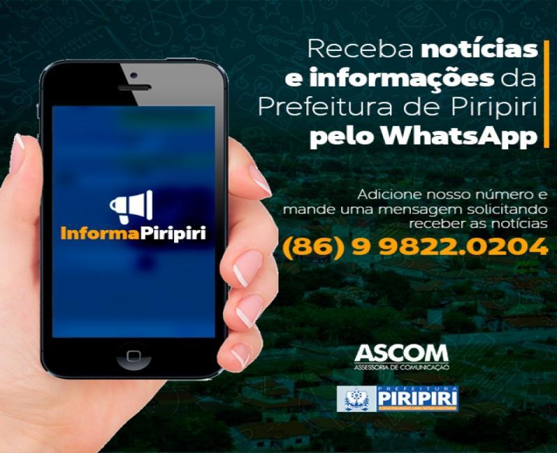 Prefeitura irá utilizar WhatsApp para divulgar informações do município