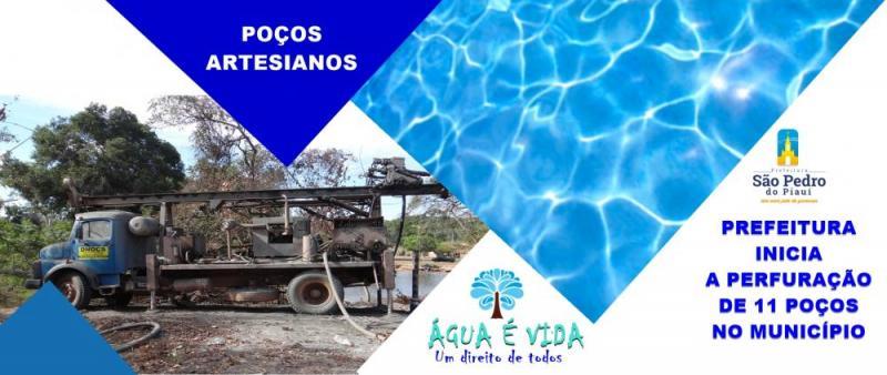 Prefeitura de São Pedro inicia perfuração de 11 poços no município