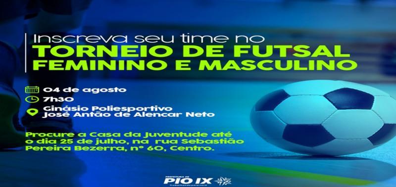 SEMASC abre inscrições para o Torneio de Futsal Masculino e Feminino