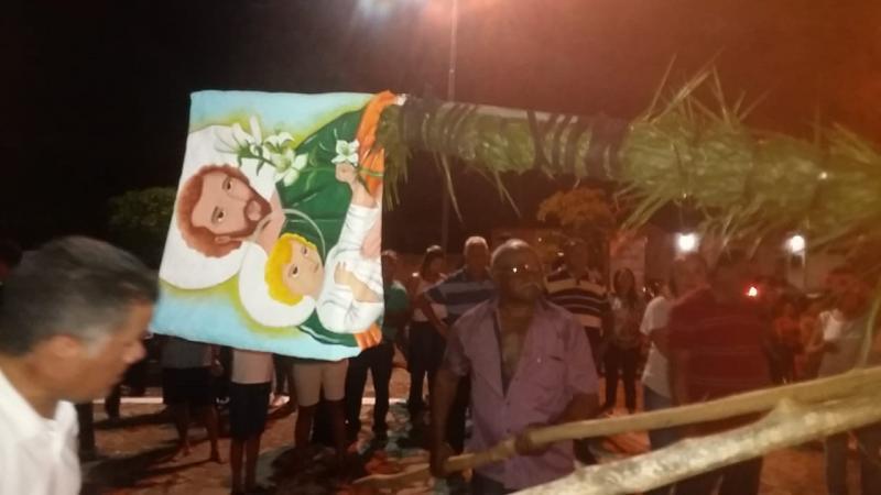 Levantamento do mastro dá início aos festejos de São José em Cabeceiras