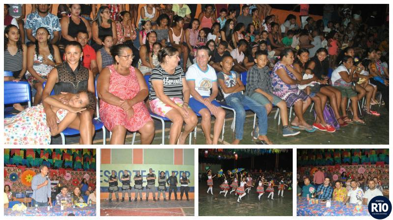 Disputa Regional de quadrilhas no festival Julino em Campo Largo-PI