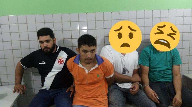 Três são presos sob a acusação de tráfico de drogas